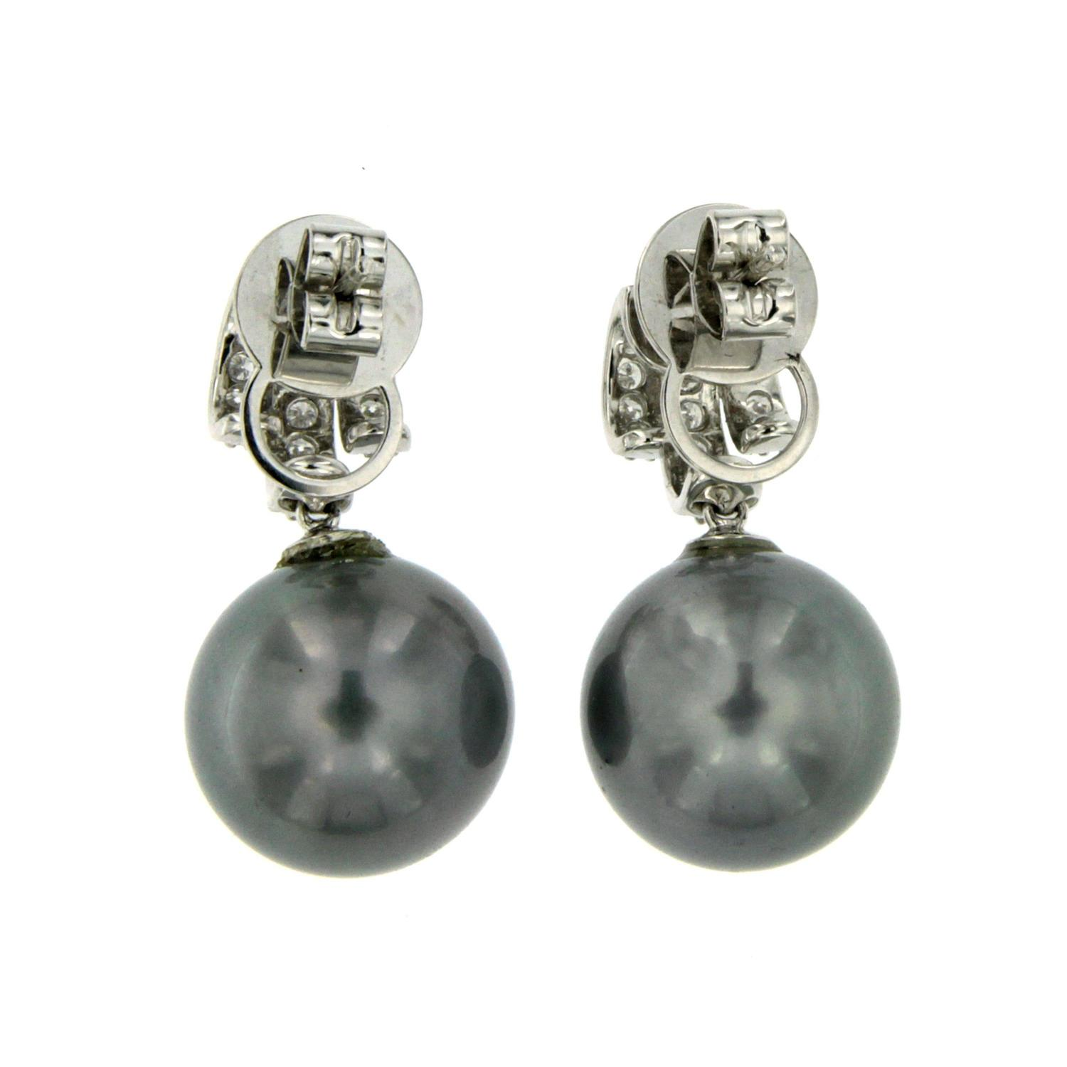 gold tahitian pearl earrings for sale at 1stdibs