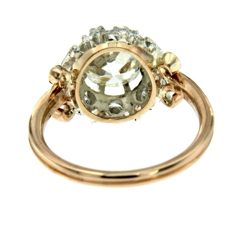 Women's 1890 Diamond Gold Engagement Ring For Sale