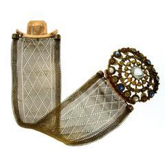 1790s Bourbon Woven Gold Bracelet