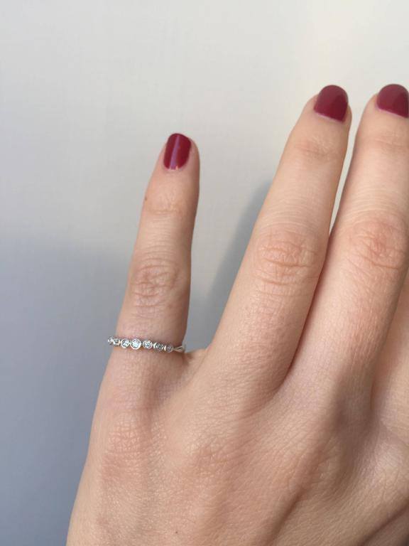 Diamond Gold Band Ring 5