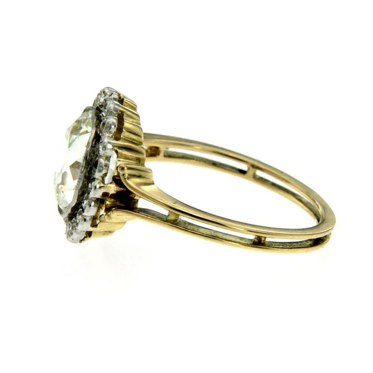 Women's Victorian 3 Carat Diamond Gold Ring For Sale