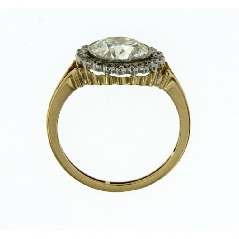 Victorian 3 Carat Diamond Gold Ring For Sale 1