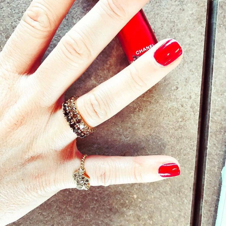 Black Diamond Gold Eternity Ring 1