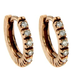 Gold Diamond baby Hoop Earrings
