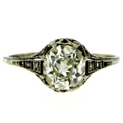 Victorian Diamond Gold Solitaire Ring