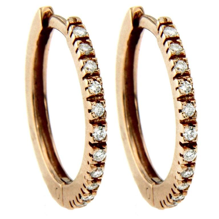 Gold Diamond Mini Hoop Earrings