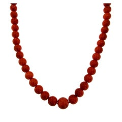 1960s Natural Mediterranean Coral Necklace