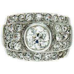 1950s Diamond 4.30 Carat Gold Ring