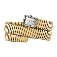 Bulgari Vacheron Constantin Yellow Gold Diamond Tubogas Serpenti Wristwatch