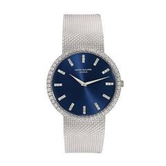 Patek Philippe White Gold Diamond-Set Automatic Wristwatch Ref 3588/7