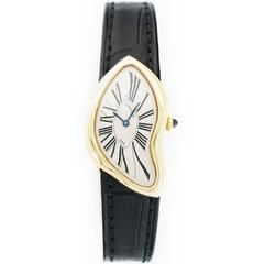 Lady's Cartier Yellow Gold Crash Asymmetric Strap Watch