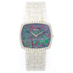 Piaget White Gold Diamond Manual Wind Bracelet Wristwatch