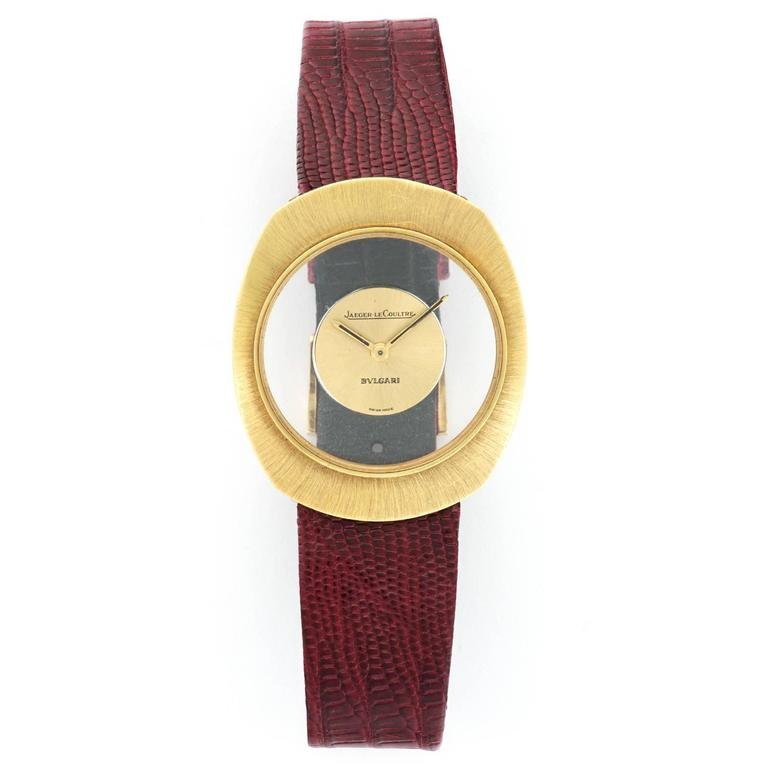 Jaeger Lecoultre Retailed by Bulgari Yellow Gold Manual Wind Wristwatch