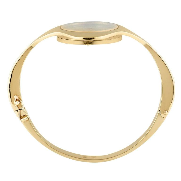 Chopard Yellow Gold Nephrite Jade Dial Bangle Bracelet Wristwatch  2