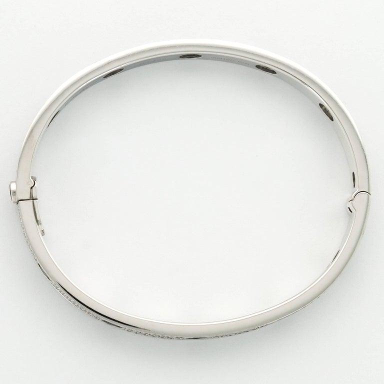 Modern Cartier White Gold Pave Diamond Love Bracelet For Sale
