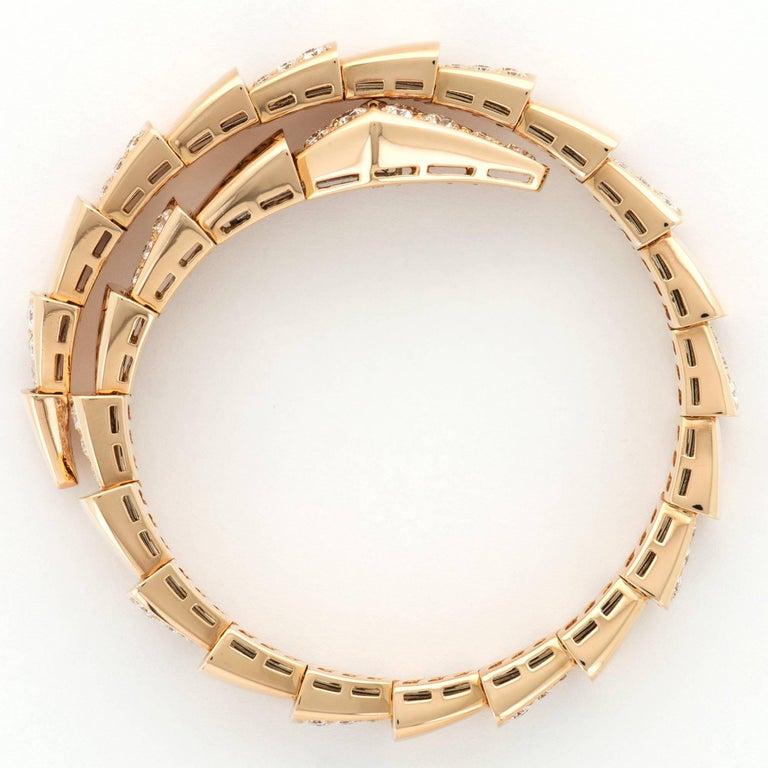 Bulgari Rose Gold Serpenti Diamond Bracelet In New Condition For Sale In Beverly Hills, CA