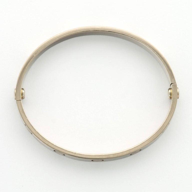 Modern Cartier White Gold Love Bracelet For Sale