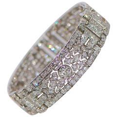 Art Deco Diamant Platin Paneel Armband