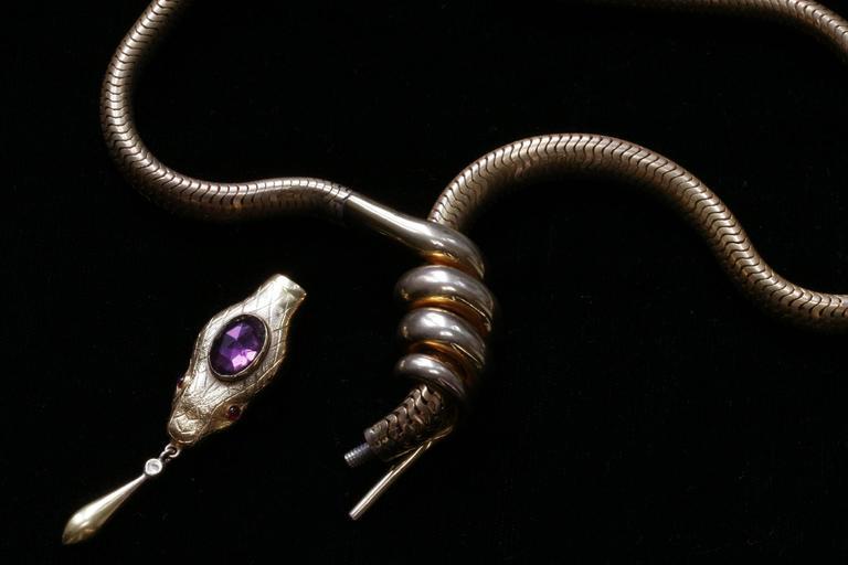 Victorian Flexible Serpent Necklace 3