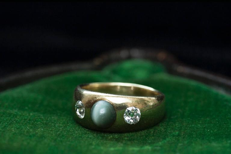 Victorian Three Stone Gypsy Ring 2