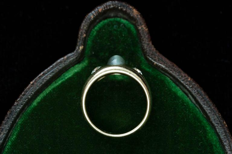 Victorian Three Stone Gypsy Ring 5