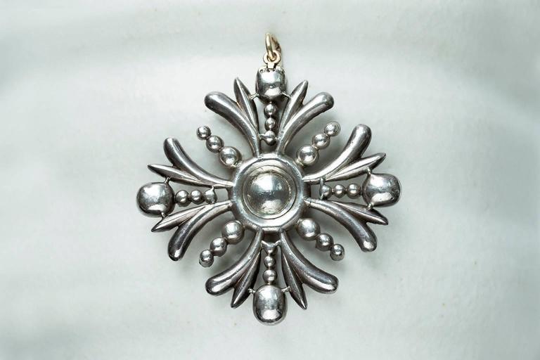 Early Victorian Sapphire Diamond Pendant 6