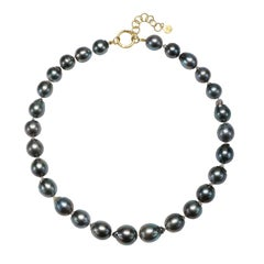 Faye Kim 18k Gold Black Tahitian Baroque Cultured Pearl Necklace