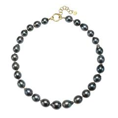Faye Kim Black Tahitian Baroque Cultured Pearl Necklace
