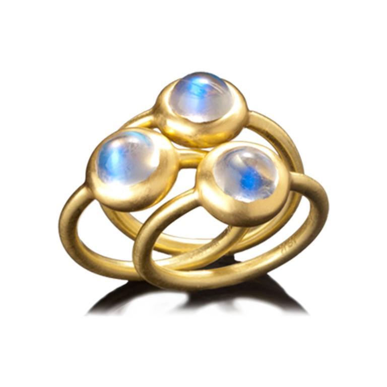 Faye Kim Ceylon Moonstone Gold Ring 2
