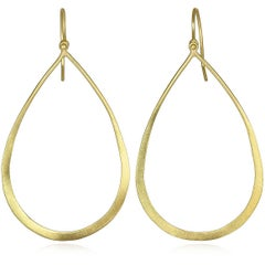 Faye Kim 18k Gold Open Teardrop Earrings