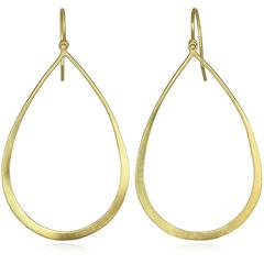 Faye Kim Gold Open Teardrop Earrings