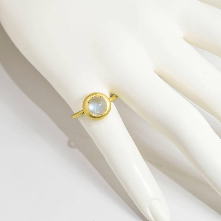 Faye Kim Ceylon Moonstone Gold Ring 3