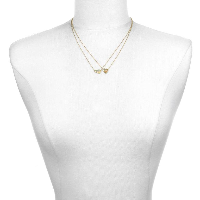 Contemporary Faye Kim Mexican Opal Gold Necklace For Sale