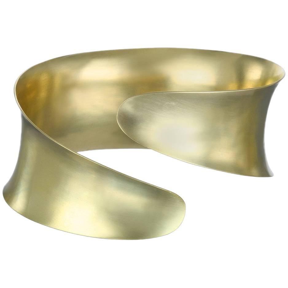 Faye Kim 18 Karat Gold Anticlastic Cuff Bracelet