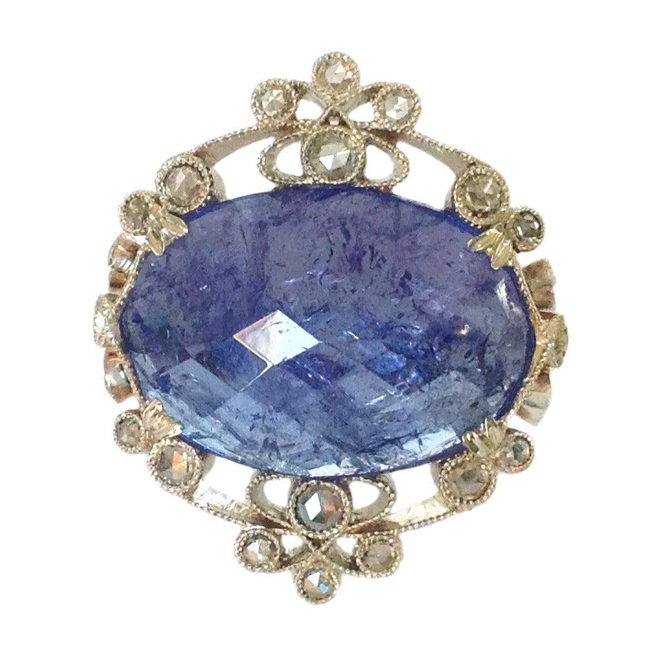 Dalben Tanzanite Diamond Gold Ring At 1stdibs