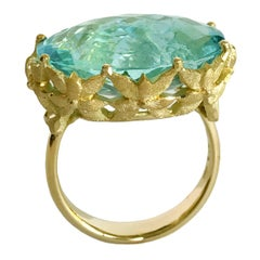 Dalben Aquamarine Gold Cocktail Ring