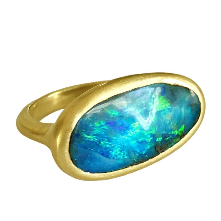 Dalben Design Australian Boulder Opal Yellow Gold Ring