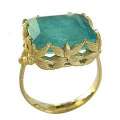 Dalben Aquamarine Gold Ring