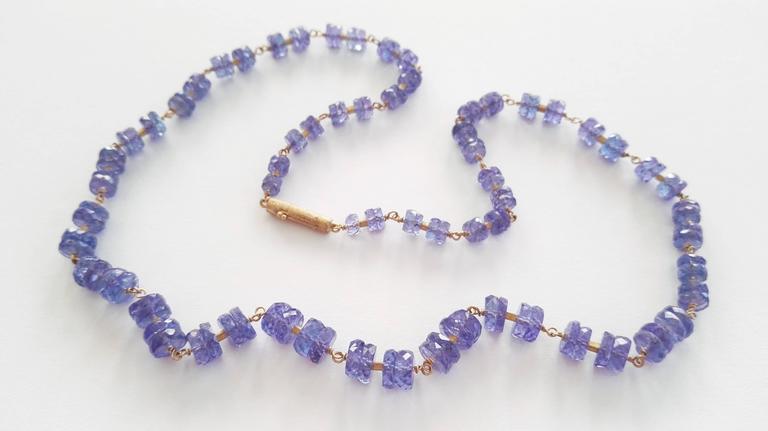 Dalben Tanzanite Gold Necklace 3
