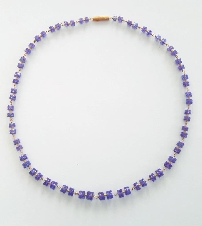 Dalben Tanzanite Gold Necklace 2
