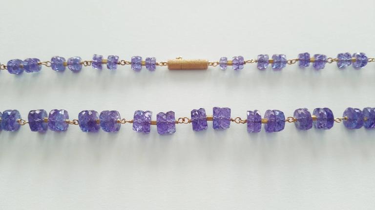 Dalben Tanzanite Gold Necklace For Sale 1