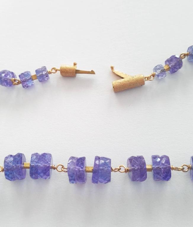 Dalben Tanzanite Gold Necklace In New Condition For Sale In Como, IT