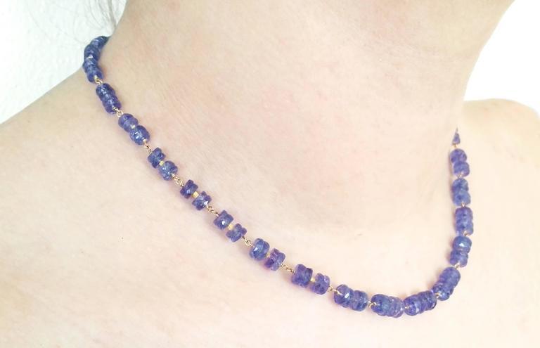 Dalben Tanzanite Gold Necklace For Sale 3