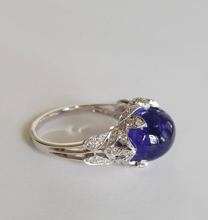 Women's Dalben Tanzanite Diamond Gold Ring For Sale