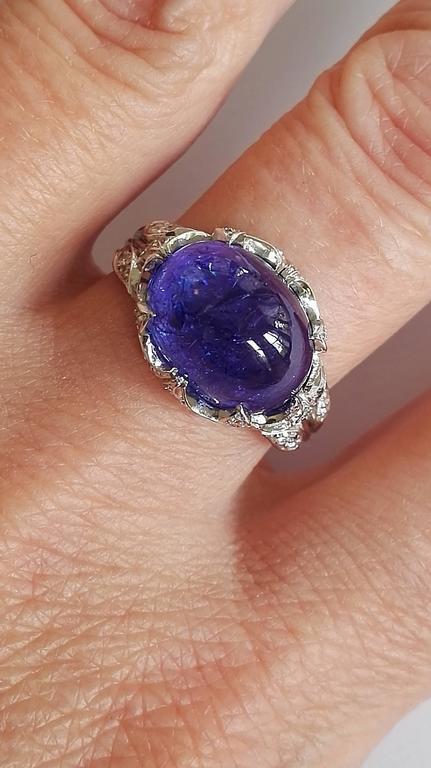 Dalben Tanzanite Diamond Gold Ring For Sale 1