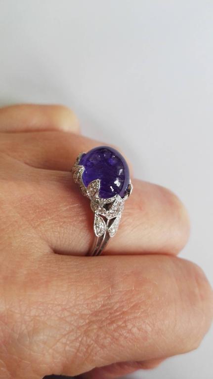 Dalben Tanzanite Diamond Gold Ring For Sale 3