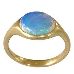 Dalben Australian Oval Opal Yellow Gold Ring