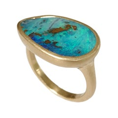 Dalben Australian Boulder Opal Yellow Gold Ring