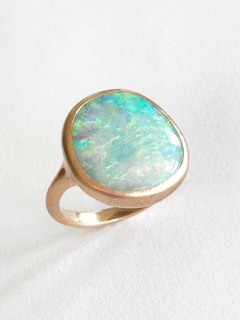 Women's Dalben Light Australian Boulder Opal Rose Gold Ring For Sale