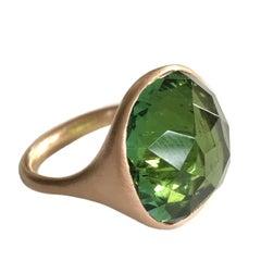 Dalben Green Toumaline Rose Gold Ring